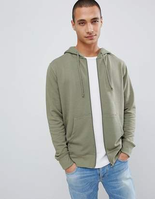 Pull&Bear Join Life Hoodie In Khaki