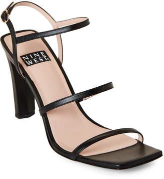 Nine West Black Gabelle Leather Sandals