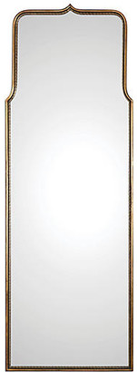 One Kings Lane Adelasia Floor Mirror - Antiqued Gold Leaf