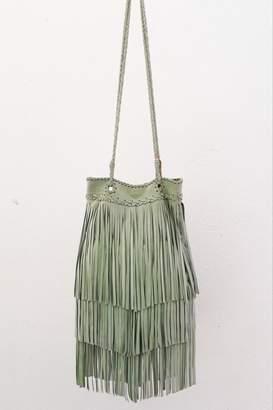 Areias Leather Pistachio Suede Bag