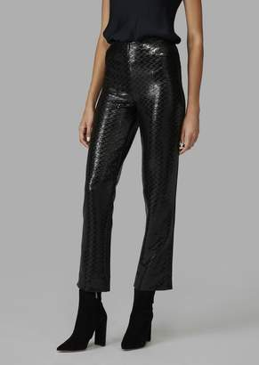Giorgio Armani Flared Trousers Covered In Sequins With Fabric Detail