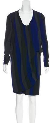 Isabel de Pedro Draped Striped Dress