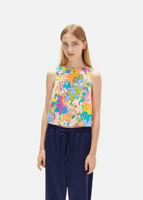 Eckhaus Latta Pillow Flower Print Blouse Fluro Floral