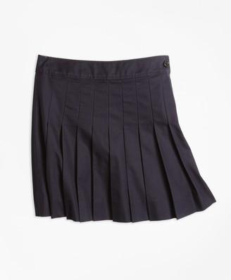 Brooks Brothers Girls Pleated Chino Skirt