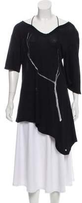 Undercover Asymmetrical Short Sleeve Top