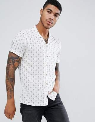 Soul Star Short Sleeve Revere Printed Shirt