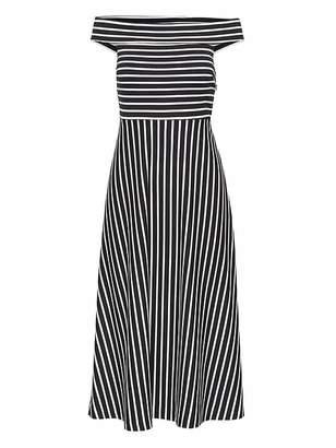 Banana Republic Stripe Ponte Off-the-Shoulder Dress