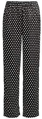 MICHAEL Michael Kors Women's Mod Dotted Satin Pajama Pants