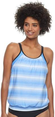 Free Country Women's Stripe Blouson Tankini Top
