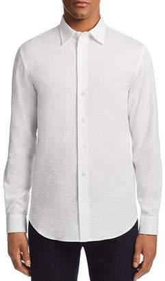 Emporio Armani Metalassé-Textured Regular Fit Sport Shirt