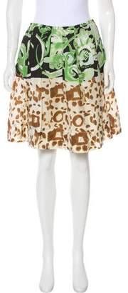 Emilio Pucci Silk Pleated Skirt