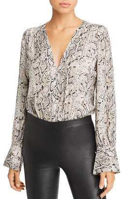 Bardot Snake-Print Wrap-Front Bodysuit - 100% Exclusive