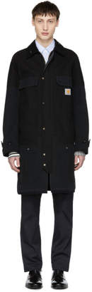 Junya Watanabe Black Carhartt Edition Cotton Duck Coat