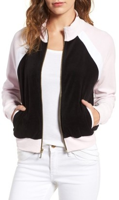 Women's Juicy Couture Colorblock Velour Track Jacket $148 thestylecure.com