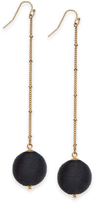 INC International Concepts I.n.c. Gold-Tone Wrapped Ball Linear Drop Earrings, Created for Macy's