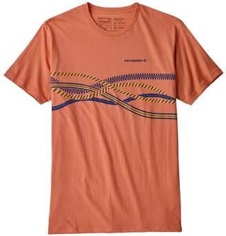 Patagonia Men's Gear Sling Stripe Organic Cotton T-Shirt