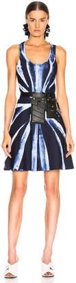 Proenza Schouler Tie Dye Knit Dress in Dark Indigo & White | FWRD