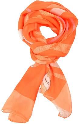 Salvatore Ferragamo 100% Silk Multi-Color Women's Shawl Scarf