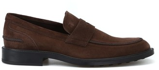 Tod's Tods Rubber Sole With Pebbles Suede Loafers