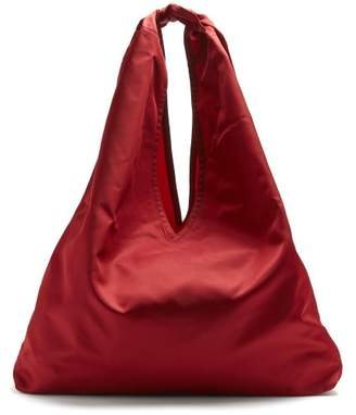 The Row Bindle Nylon Shoulder Bag - Womens - Dark Red