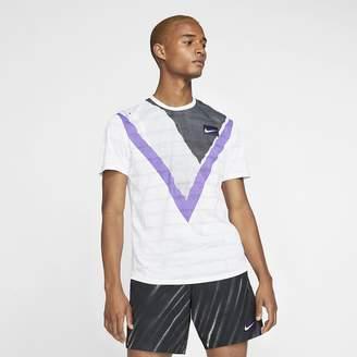 Nike Men's Short-Sleeve Tennis Top NikeCourt Challenger