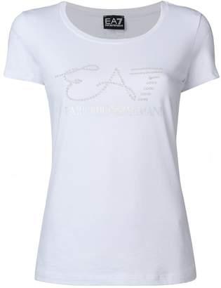 Emporio Armani Ea7 embellished logo T-shirt