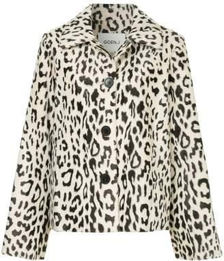 Goen.J leopard print faux-fur jacket
