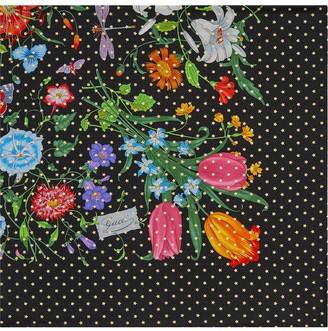 Gucci Silk scarf with Flora Star print