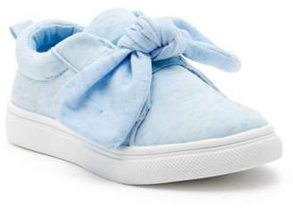Nicole Miller Heather Jersey Low Top Knot Sneaker (Toddler)