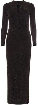 Dorothy Perkins Womens Black and Gold Maxi Dress