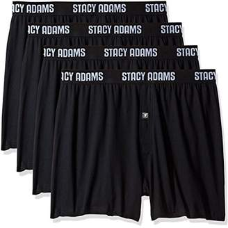 Stacy Adams Men's Big and Tall 4pack Cotton Loose Boxer Sizes