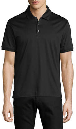 Black Brown 1826 Short-Sleeve Cotton Interlock Polo