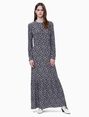 Calvin Klein floral long sleeve maxi dress
