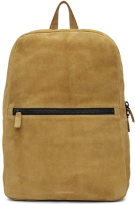 Common Projects Tan Suede Simple Backpack