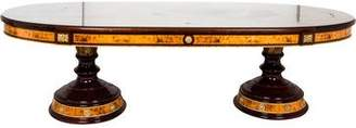 Antique Inlaid Oval Dining Table