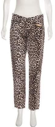 Rag & Bone Leopard Print Mid-Rise Jeans