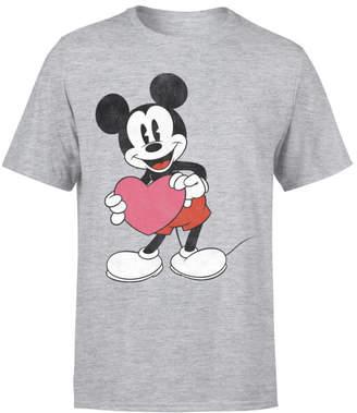 Disney Mickey Mouse Heart Gift T-Shirt - Grey