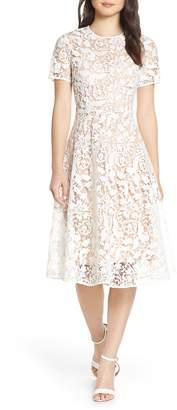 Chelsea28 Floral Lace A-Line Dress