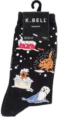 K. Bell Novelty Crew Socks - Dog Bath