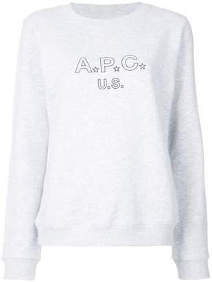 A.P.C. logo print sweatshirt