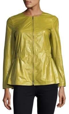 Lafayette 148 New York Lucina Lacquered Lambskin Jacket