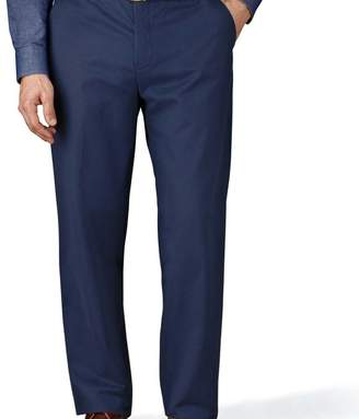 Charles Tyrwhitt Blue classic fit flat front weekend chinos