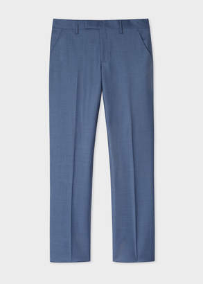 Paul Smith Men's Slim-Fit Slate Blue Wool Trousers