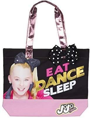 Nickelodeon FAB Starpoint JoJo Siwa Eat purse, Dance, Sleep Tote Bag with Polka Dot Bow