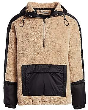 Madison Supply Men's Faux Shearling Popover Hoodie