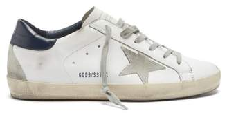 Golden Goose Superstar Leather Trainers - Womens - White Navy