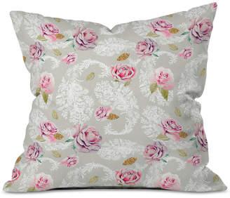 Deny Designs Marta Barragan Camarasa Romantic Floral Paisley Pattern Throw Pillow