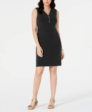 JM Collection Zip-Neck Dress, Created for Macy's