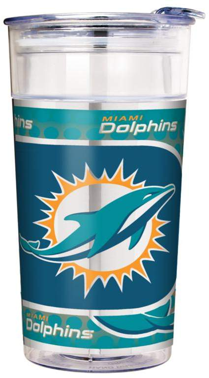 Officially Licensed NFL 22 oz. Double Wall Acrylic Party Cup - Miami Dolphins