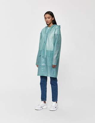 Rains Hooded Rain Coat in Foggy Dusty Mint